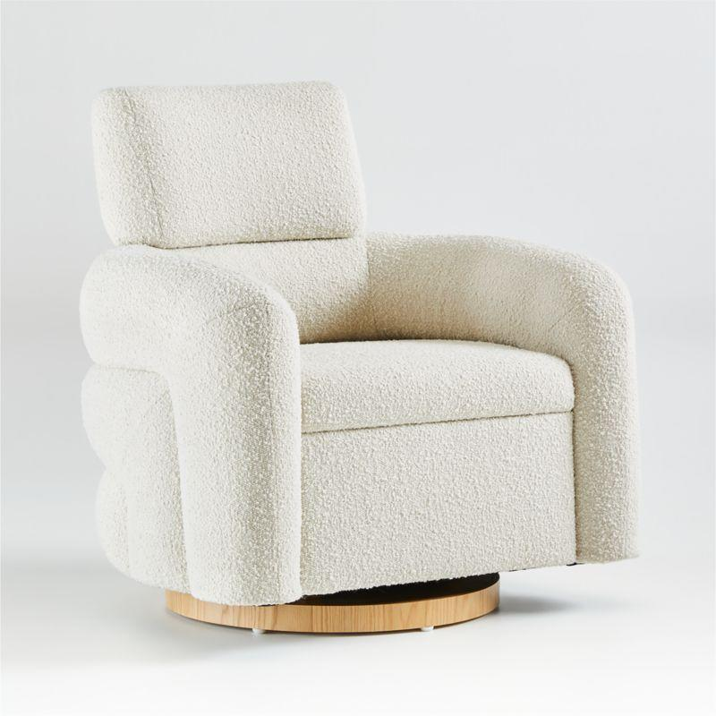 """<p><strong>crate and barrel</strong></p><p>crateandbarrel.com</p><p><strong>$999.00</strong></p><p><a href=""""https://go.redirectingat.com?id=74968X1596630&url=https%3A%2F%2Fwww.crateandbarrel.com%2Fsnoozer-cream-glider%2Fs630623&sref=https%3A%2F%2Fwww.goodhousekeeping.com%2Fchildrens-products%2Fg36815305%2Fbest-gliders%2F"""" rel=""""nofollow noopener"""" target=""""_blank"""" data-ylk=""""slk:Shop Now"""" class=""""link rapid-noclick-resp"""">Shop Now</a></p><p>This stylish chair wouldn't look out of place in a <a href=""""https://www.goodhousekeeping.com/home/decorating-ideas/g1500/decor-ideas-living-room/"""" rel=""""nofollow noopener"""" target=""""_blank"""" data-ylk=""""slk:chic living room"""" class=""""link rapid-noclick-resp"""">chic living room</a>, and it will look beautifu<strong>l </strong>in your baby's room. <strong>Designed by HGTV star designer Leanne Ford, </strong>this chair is covered in trendy boucle fabric (it comes in both cream and dark grey) and is sturdily designed with a solid wood base. Just note: some reviewers noticed that while this chair glided nicely, the cushions felt hard, and some felt that they were sacrificing comfort for style.</p>"""