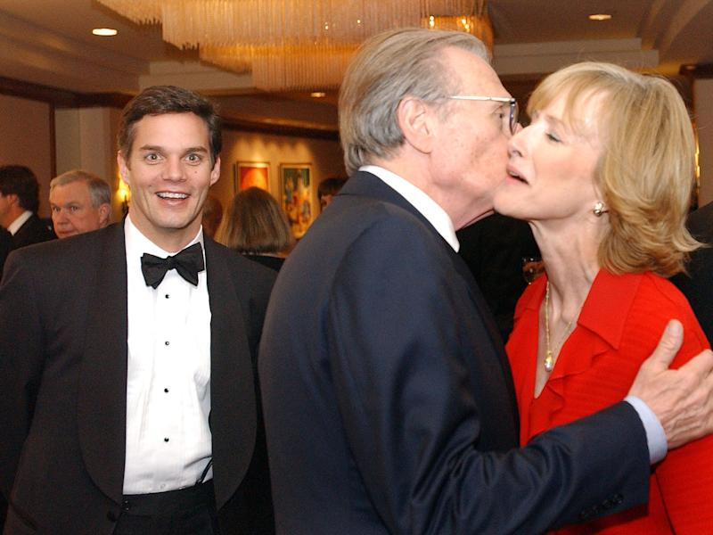 CNN anchor Bill Hemmer, CNN talk show host Larry King and CNN Inside Politics host Judy Woodruff attend a CNN pre-party for the White House Radio and TV Correspondents Association annual dinner June 4, 2003 in Washington, DC.