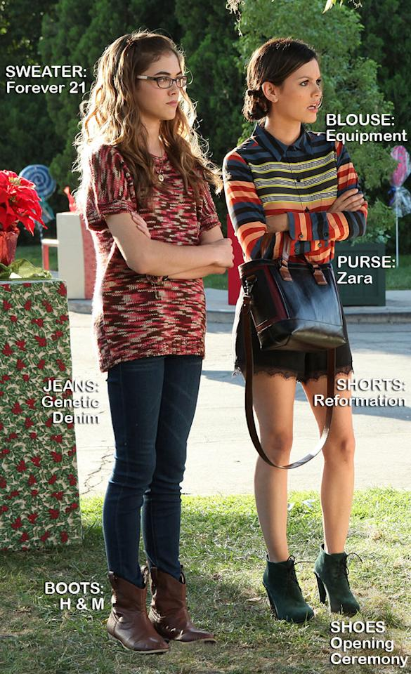 "McKaley Miller as Rose and Rachel Bilson as Dr. Zoe Hart in the Season 1 episode ""Hairdos and Holidays."""
