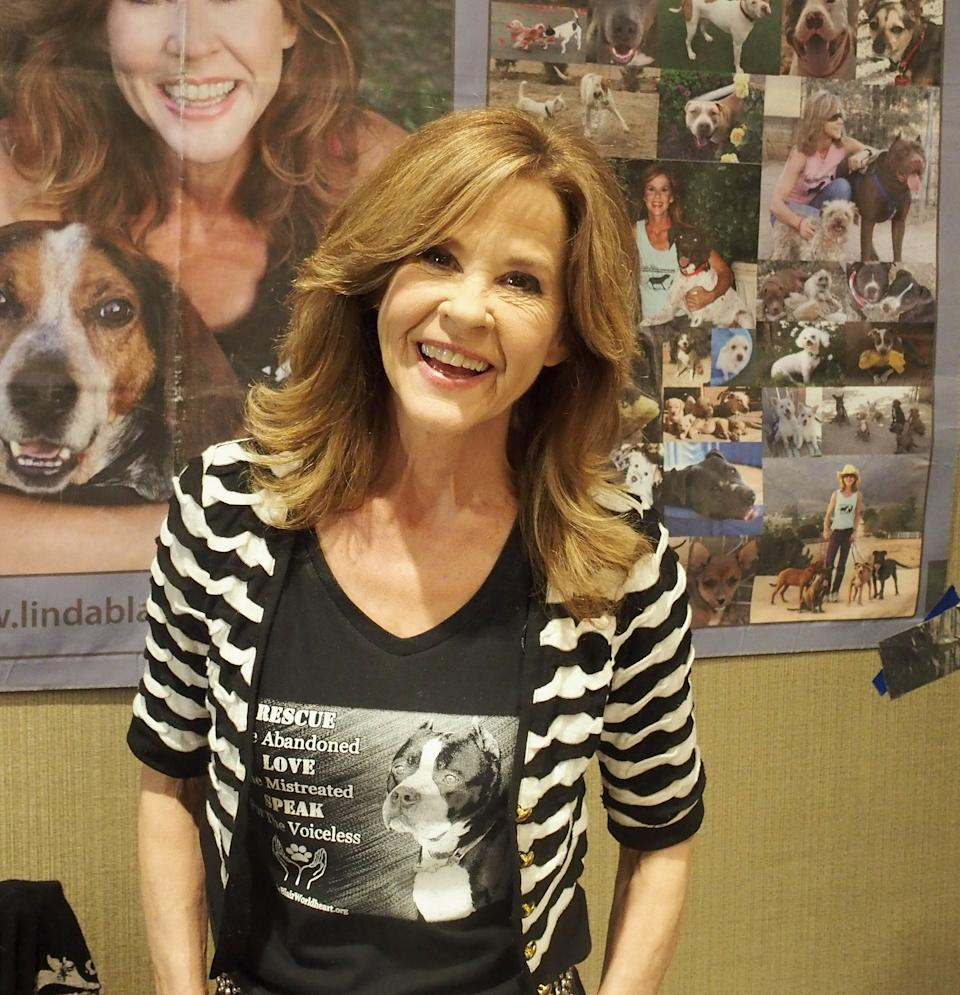 PARSIPPANY, NJ - APRIL 27:  Linda Blair attends the Chiller Theatre Expo Spring 2019 at Parsippany Hilton on April 27, 2019 in Parsippany, New Jersey.  (Photo by Bobby Bank/Getty Images)