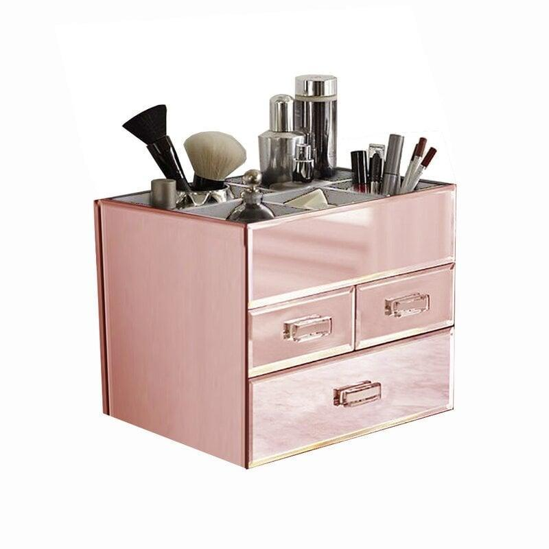 <p>If love milennial pink, the <span>Miro 3 Drawer Tiered a Mirrored Glass Makeup Organizer</span> ($42, originally $110) is perfect for you!</p>