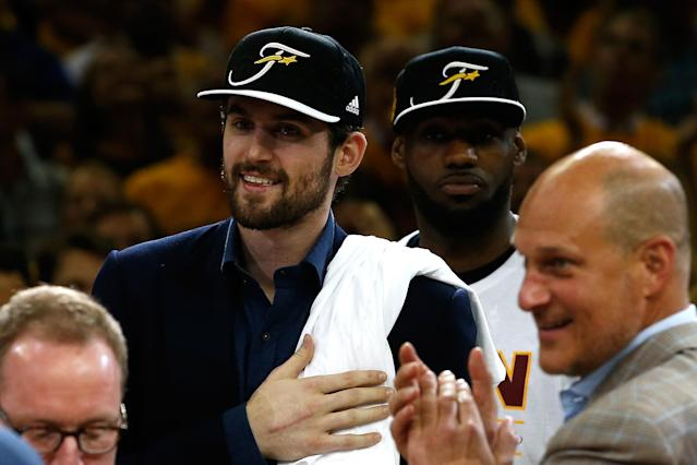 Kevin Love wants to go back to the Finals, and to do more than watch this time. (Gregory Shamus/Getty Images)