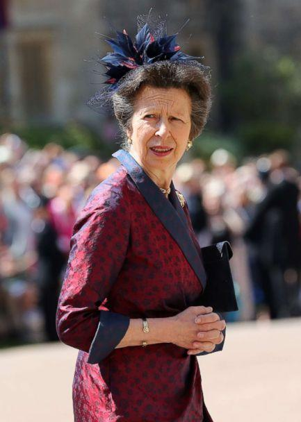 PHOTO: Princess Anne arrives at St George's Chapel at Windsor Castle before the wedding of Prince Harry to Meghan Markle, May 19, 2018, in Windsor, England. (Gareth Fuller/Getty Images)
