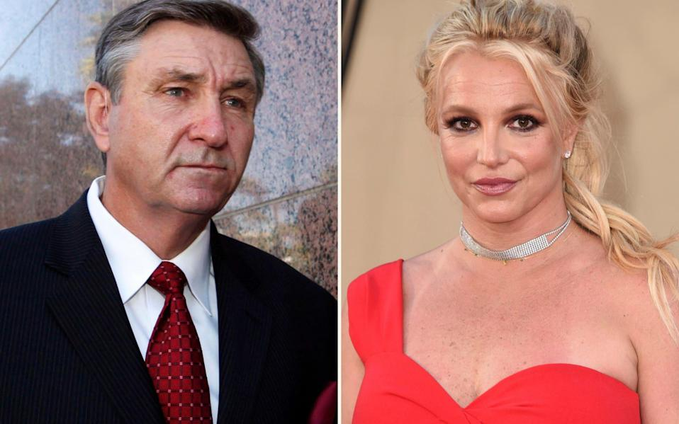 Jamie Spears, father of Britney, has had control of her estate ever since her breakdown in 2007 - AP
