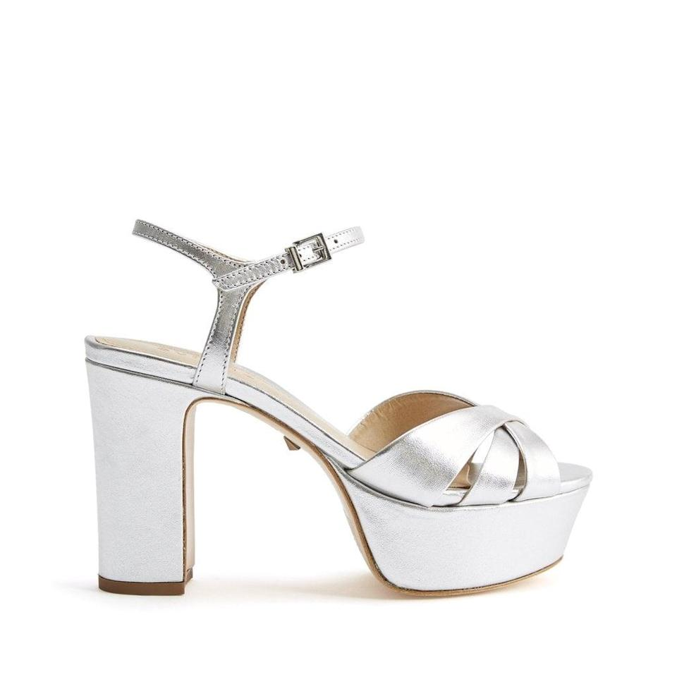 <p>The name of the game is comfort, even if we're wearing heels. That's why a platform is so useful; it really does make a difference if you're planning on dancing all night. We like these pretty <span>Schutz Keefa Sandals</span> ($138); they also come in gold.</p>