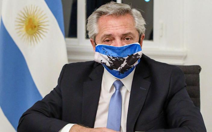 The President of Argentina deals with cases of his own virus-ESTEBAN COLLAZO / AFP