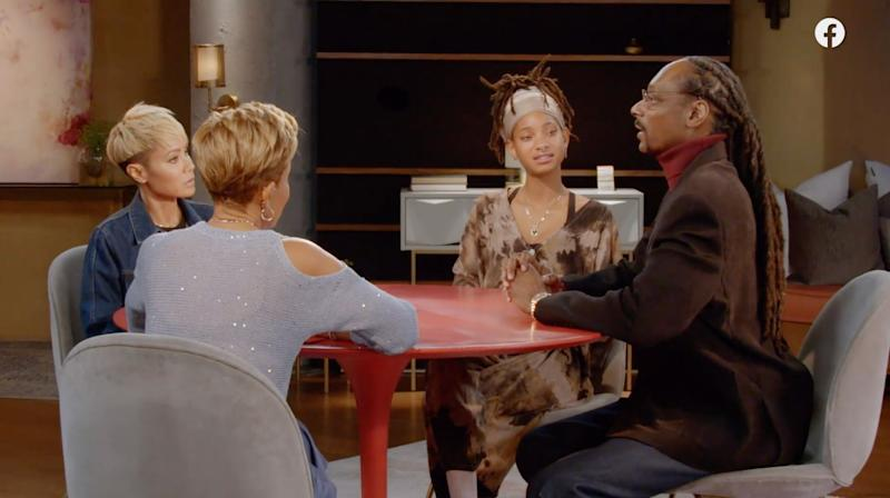 "Snoop Dogg appeared on the Feb. 26 episode of ""Red Table Talk"" to apologize for his comments about CBS journalist Gayle King. (Photo: ""Red Table Talk"")"