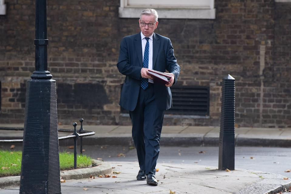 Chancellor of the Duchy of Lancaster Michael Gove in Downing Street, London, ahead of a Cabinet meeting at the Foreign and Commonwealth Office. Picture date: Tuesday September 15, 2020. Photo credit should read: Matt Crossick/Empics