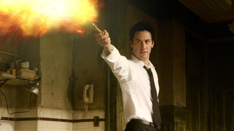 Keanu Reeves played the title role in 2005 comic book noir 'Constantine'. (Credit: Warner Bros)