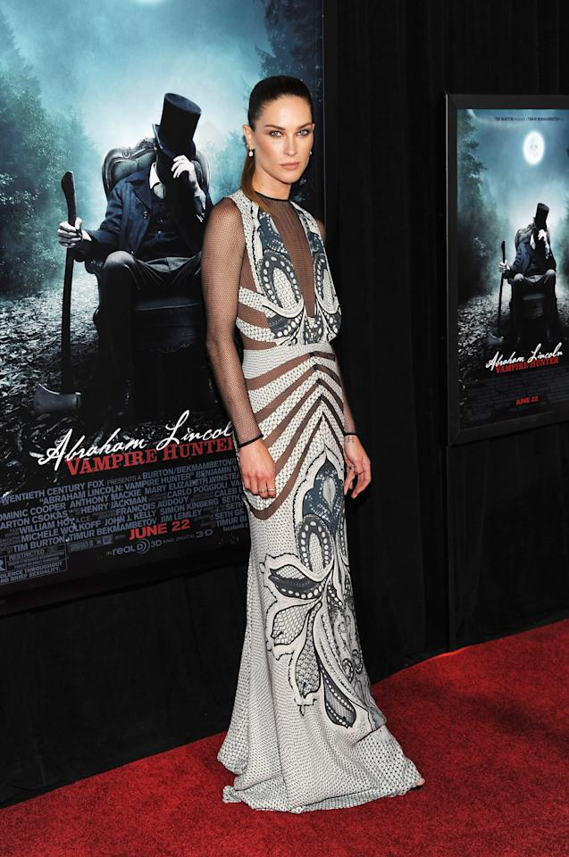 """NEW YORK, NY - JUNE 18:  Actress Erin Wasson attends the """"Abraham Lincoln: Vampire Hunter"""" premiere at AMC Loews Lincoln Square on June 18, 2012 in New York City.  (Photo by Larry Busacca/Getty Images)"""