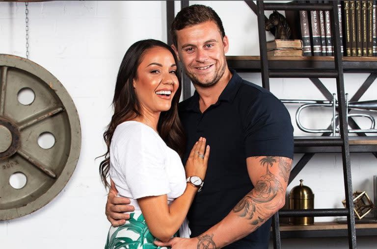 Davina Rankin with her husband, Ryan Gallagher, on Married At First Sight 2018