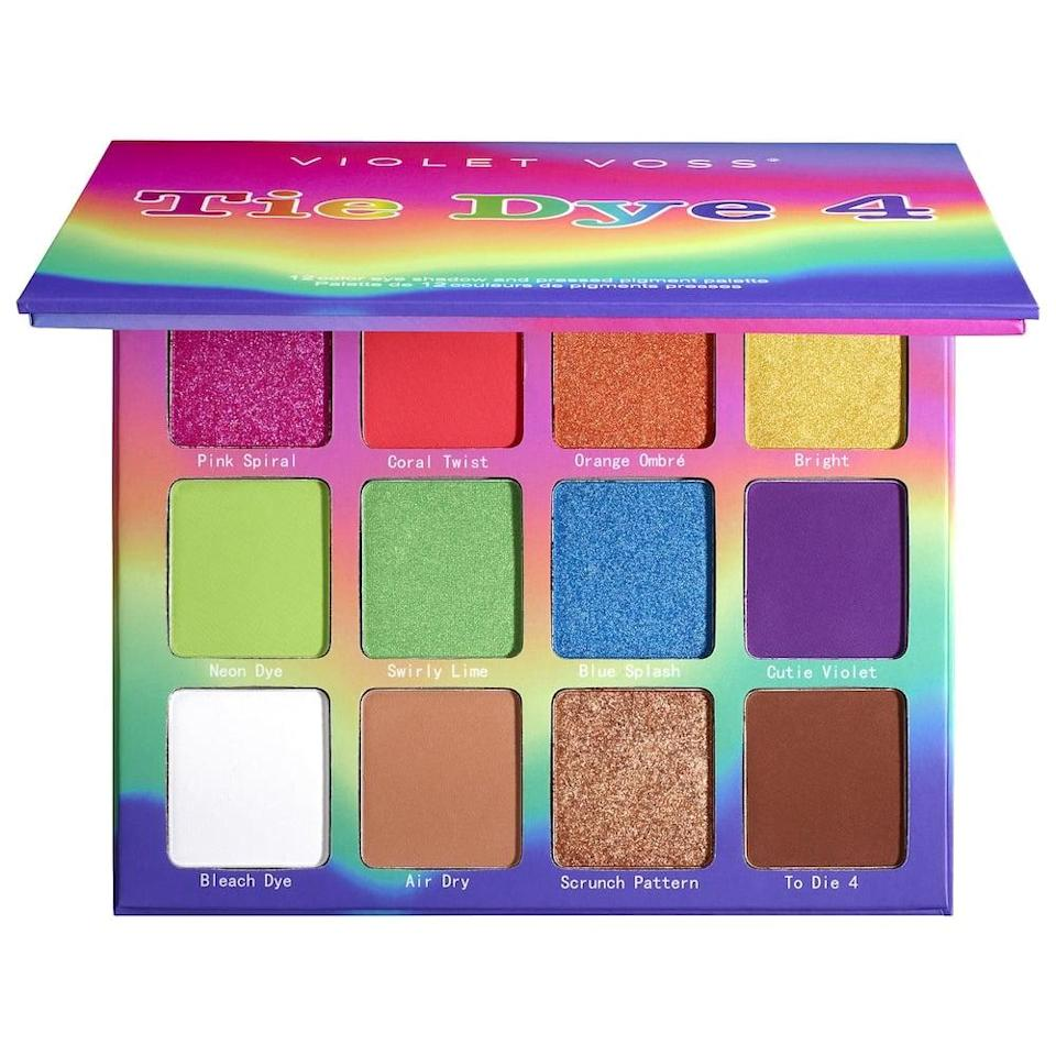 <p>Add a pop of color with the vibrant shades of <span>Violet Voss Tie Die 4 Eyeshadow Palette</span> ($36). </p>