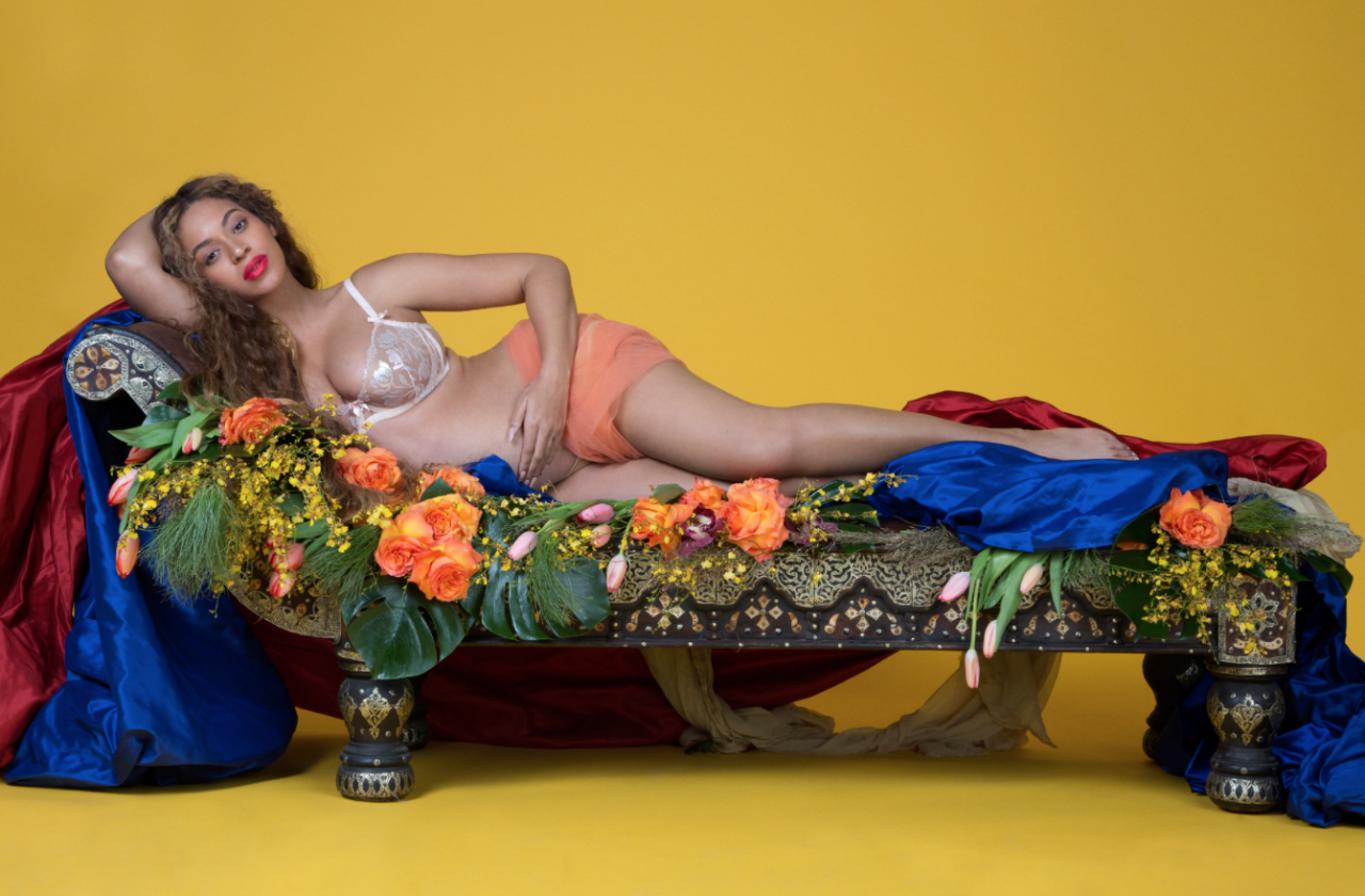 <p>In case you forgot, Beyoncé is… well… Beyoncé. She included plenty of Beyoncé-style shots featuring herself lounging in her own fabulousness. (Photo: Beyonce.com) </p>
