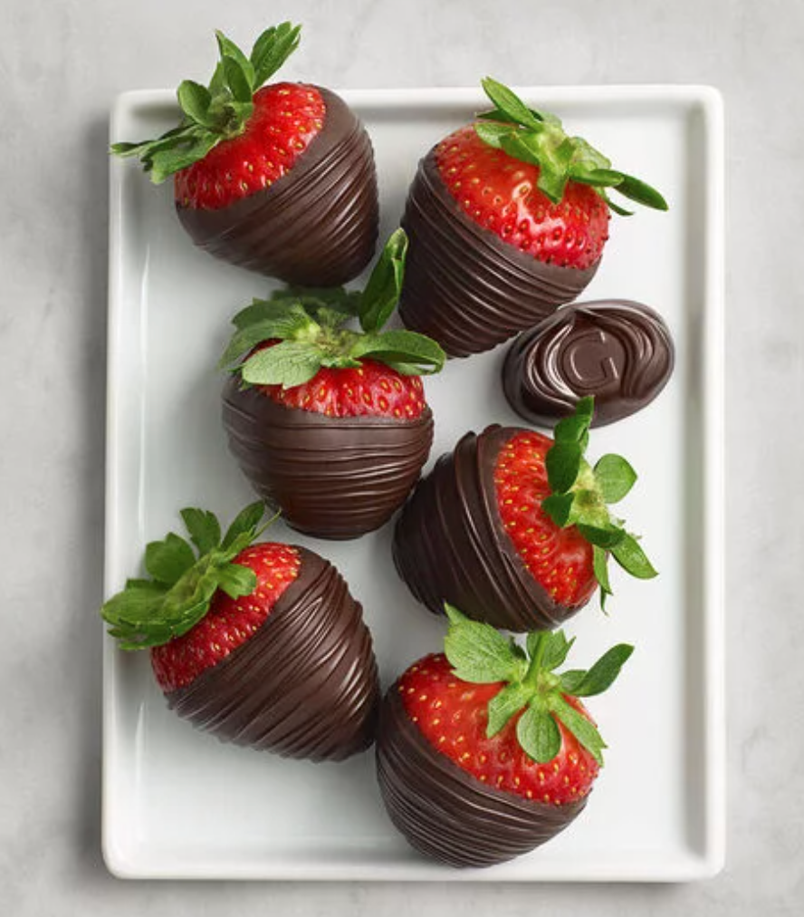 "<h2>Godiva Half Dozen Dark Chocolate Covered Strawberries</h2><br>Fresh juicy berries meet decadent dark chocolate. Healthy? Maybe. Delicious? 100%.<br><br><em>Shop</em> <strong><em><a href=""http://godiva.com"" rel=""nofollow noopener"" target=""_blank"" data-ylk=""slk:Godiva"" class=""link rapid-noclick-resp"">Godiva</a></em></strong><br><br><strong>Godiva</strong> Dark Chocolate Covered Strawberries, $, available at <a href=""https://go.skimresources.com/?id=30283X879131&url=https%3A%2F%2Ffave.co%2F386Vw3w"" rel=""nofollow noopener"" target=""_blank"" data-ylk=""slk:Godiva"" class=""link rapid-noclick-resp"">Godiva</a>"