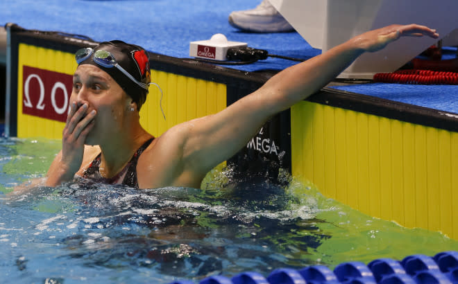 Louisville sophomore Mallory Comerford tied swimming superstar Katie Ledecky for the NCAA title in the 200-free.