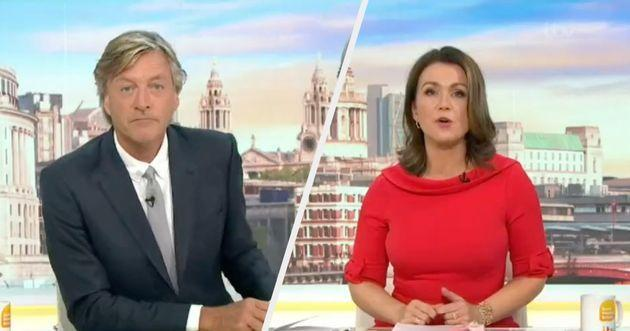 Susanna was not the only person frustrated with Richard's apparent dismissal of the report. (Photo: Good Morning Britain)