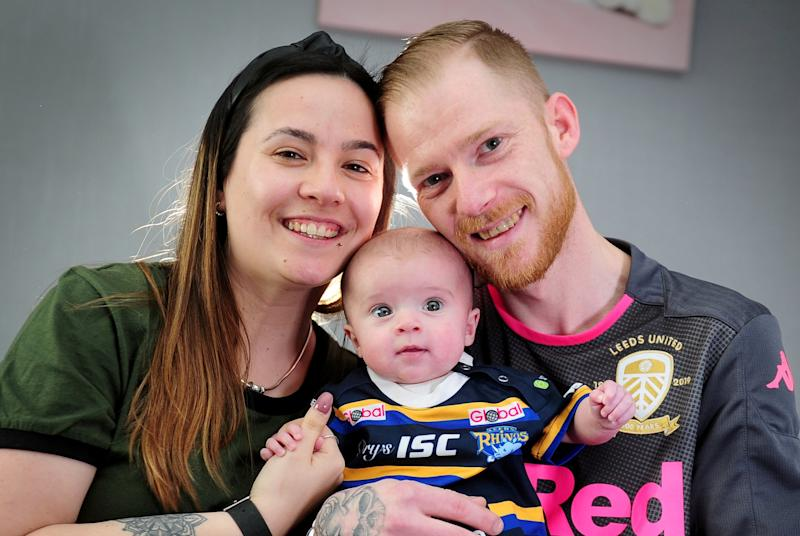 A couple who tried to conceive for 5 years have spoken of their joy after their baby daughter was given the all-clear from cancer (SWNS)