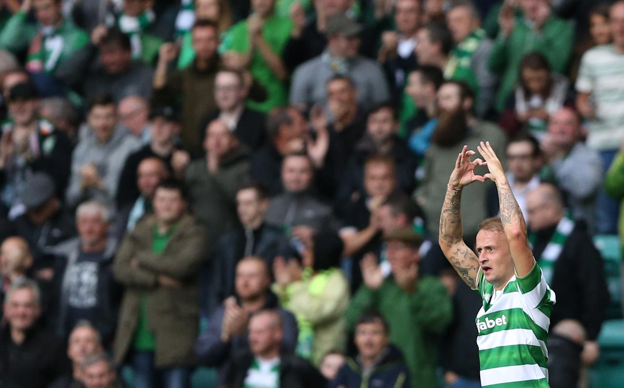 Britain Football Soccer - Celtic v Lincoln Red Imps - UEFA Champions League Second Qualifying Round Second Leg - Celtic Park - 20/7/16 Leigh Griffiths celebrates after scoring the second goal for Celtic Action Images via Reuters / Russell Cheyne Livepic