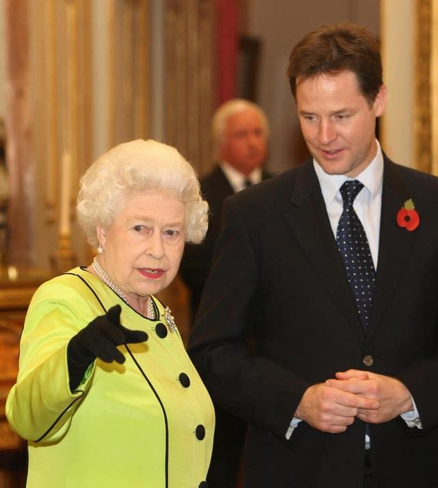 Queen and Nick Clegg