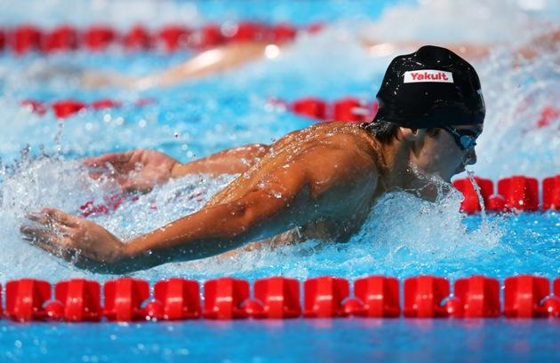 Joseph Schooling at the FINA World Championships in Spain, July 2013. (Getty Images)