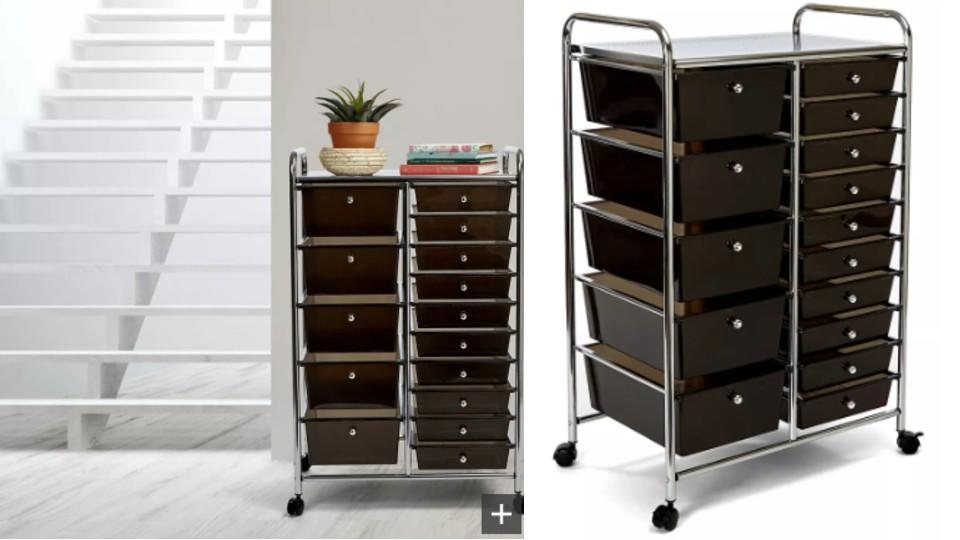 Vancouver Classics 15-Drawer Organizer Cart - The Home Depot, $100