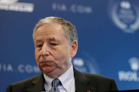 Jean Todt, Federation Internationale de l'Automobile (FIA) President attends the FIA Champions news conference for FIA Prize Giving 2017 in Paris, France December 8, 2017. REUTERS/Gonzalo Fuentes