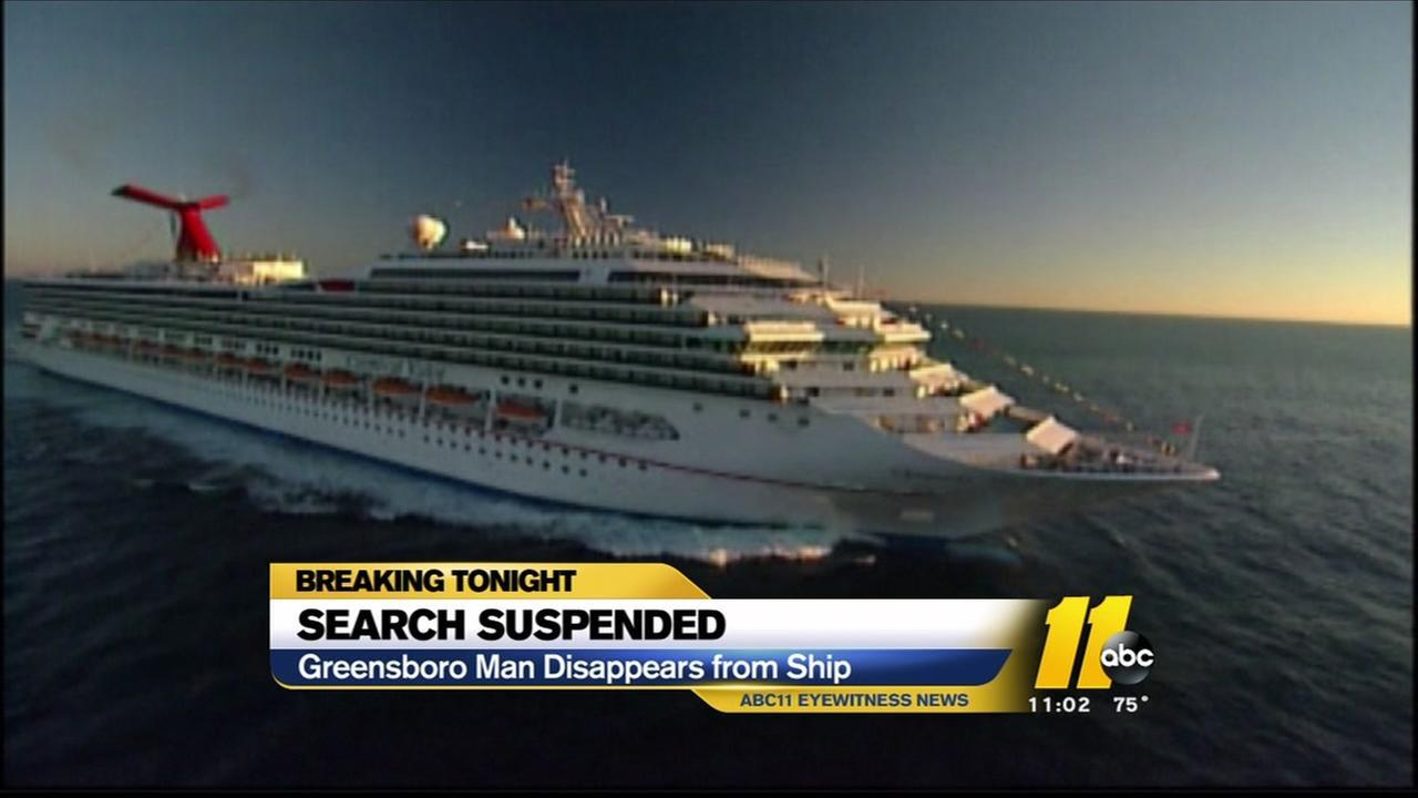 Crews suspended the effort to find 50-year-old Brian Lamonds of Greensboro, about 9 p.m
