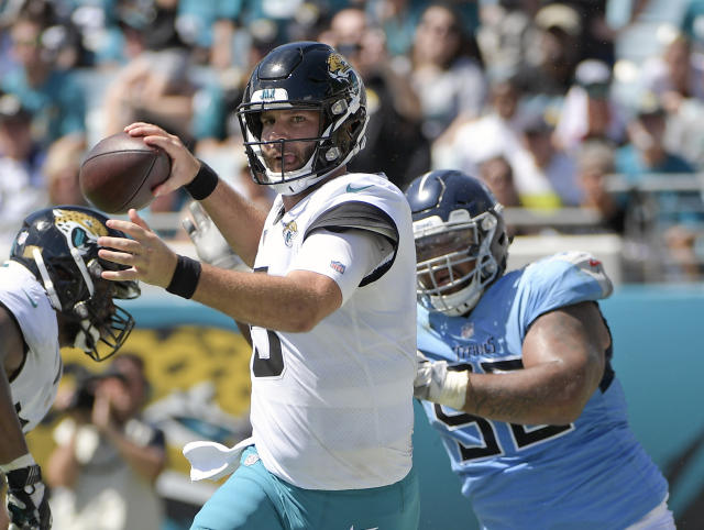 Jacksonville Jaguars quarterback Blake Bortles has a chance to be a fantasy asset in Week 5 against a generous Kansas City Chiefs defense. (AP Photo/Phelan M. Ebenhack)