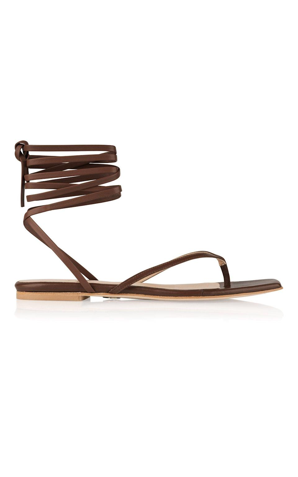 """<p><strong>Brother Vellies </strong></p><p>brothervellies.com</p><p><strong>$385.00</strong></p><p><a href=""""https://brothervellies.com/products/tyla-sandal-in-nina"""" rel=""""nofollow noopener"""" target=""""_blank"""" data-ylk=""""slk:Shop Now"""" class=""""link rapid-noclick-resp"""">Shop Now</a></p><p>A summer staple lace-up sandal to add to her permanent shoe collection. </p>"""