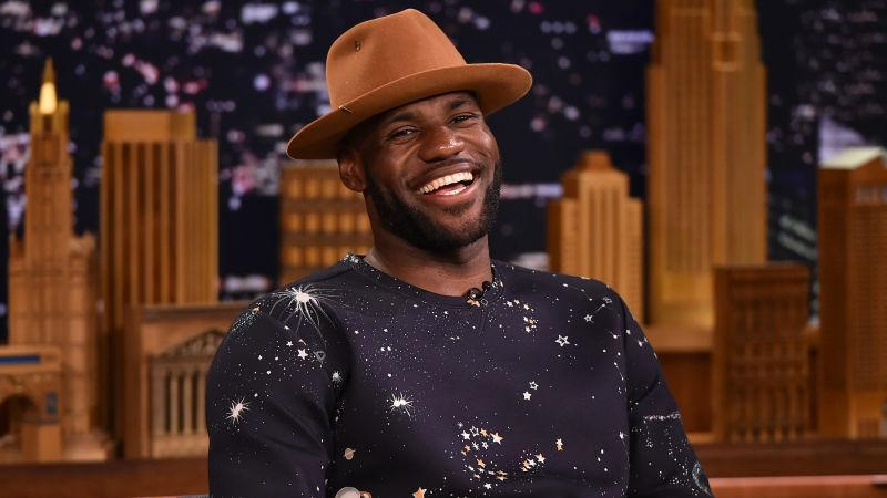 """: LeBron James Visits """"The Tonight Show Starring Jimmy Fallon"""" at Rockefeller Center on July 14, 2015 in New York City."""
