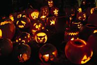"""<p>Answer: In 2013, Keene, New Hampshire, broke its own Guinness World Record for the <a href=""""https://www.guinnessworldrecords.com/world-records/most-lit-jack-o-lanterns-displayed"""" rel=""""nofollow noopener"""" target=""""_blank"""" data-ylk=""""slk:most lit Jack-o'-lanterns"""" class=""""link rapid-noclick-resp"""">most lit Jack-o'-lanterns </a>on display at 30,581. </p>"""