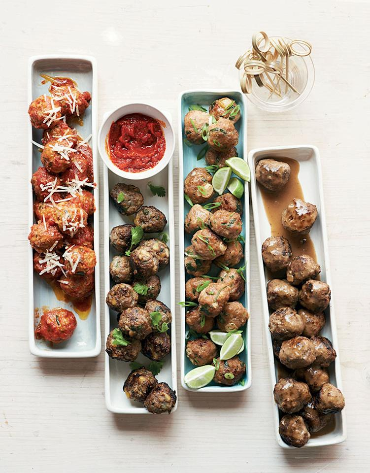 """<p>These meatballs are the perfect party dish that will leave guests both satisfied and hungry for more. You can dress them up in countless ways and serve them with toothpicks. <b><a href=""""https://www.yahoo.com/food/swedish-meatballs-from-martha-stewarts-128281290941.html"""" target=""""_blank"""">Get the recipe here</a>.</b></p><p><i>(Photo: David Malosh)</i></p>"""