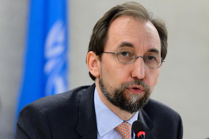 UN human rights chief Zeid Ra'ad Al Hussein has warned over civilian casualties of air strikes (AFP Photo/FABRICE COFFRINI)