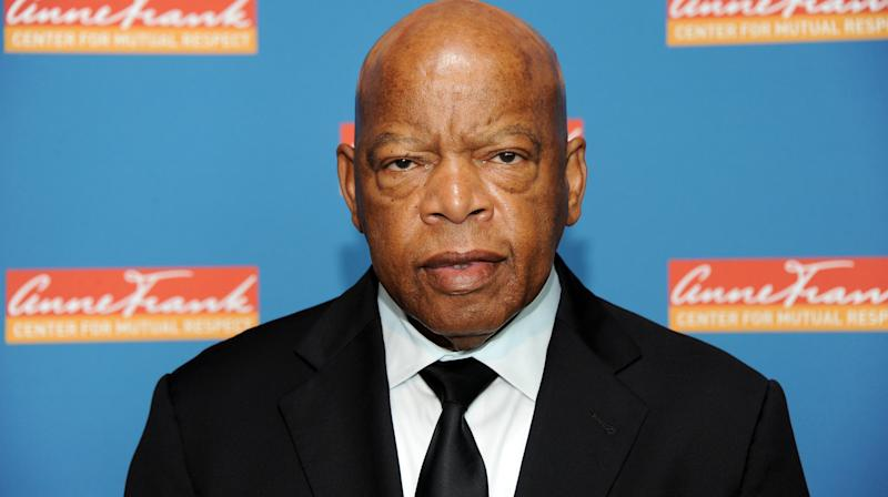 John Lewis Overcome With Emotion At A Civil Rights Movement Exhibit