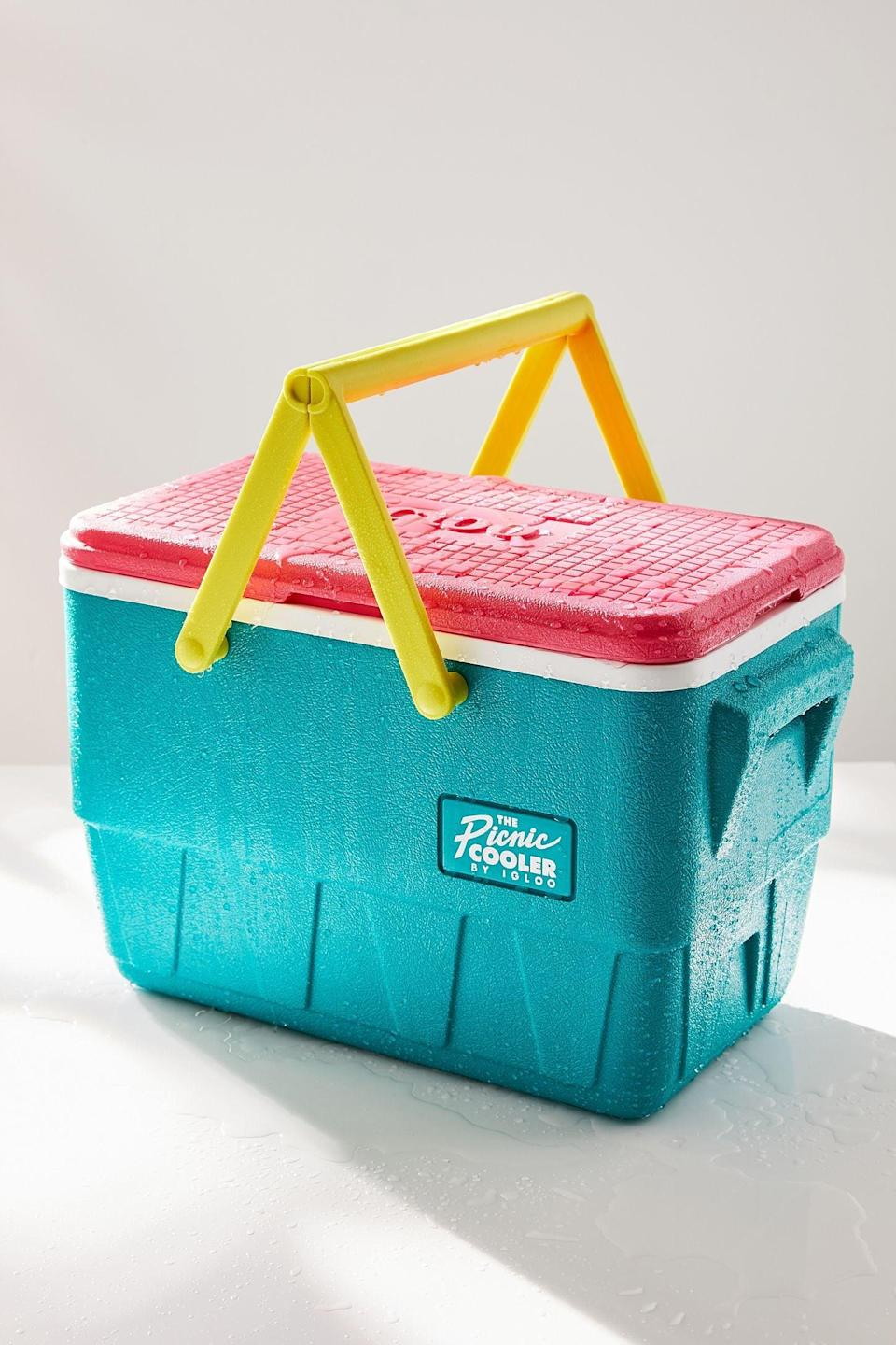 <p>Store your edibles and drinks in the <span>Igloo Picnic Cooler</span> ($68) to keep them from overheating in the car.</p>