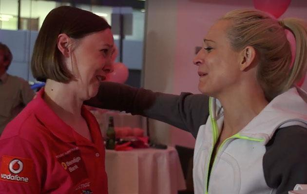 The video shows beautiful moments between Connie and Carrie during the cancer sufferer's battle. Photo: Facebook