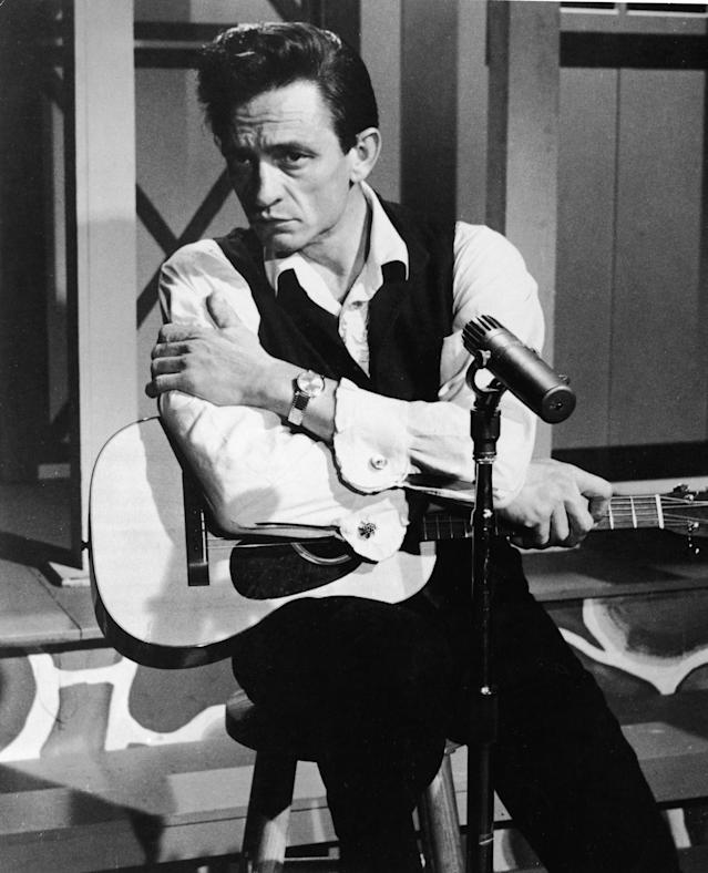 "<p>Only Johnny Cash, who was nominated in 2003 for his anguished version of Nine Inch Nails' ""Hurt."" (Taylor Swift had become a pop megastar by the time she was nominated.) (Photo: Getty Images) </p>"