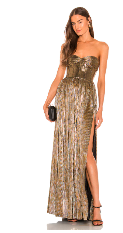 Bronx and Banco Strapless gown