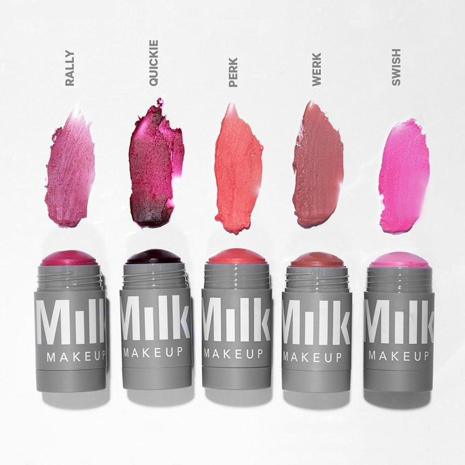 <p>Rock your skinimalism looks with these blendable and gorgeous <span>Milk Makeup Lip + Cheek</span> ($28) shades.</p>