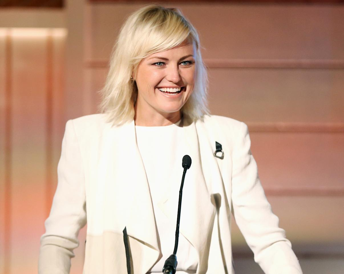 <p>Malin Akerman! The actress takes the stage at the EMA IMPACT Summit, where she introduced the keynote on Investor Activism, on Thursday in Beverly Hills.</p>