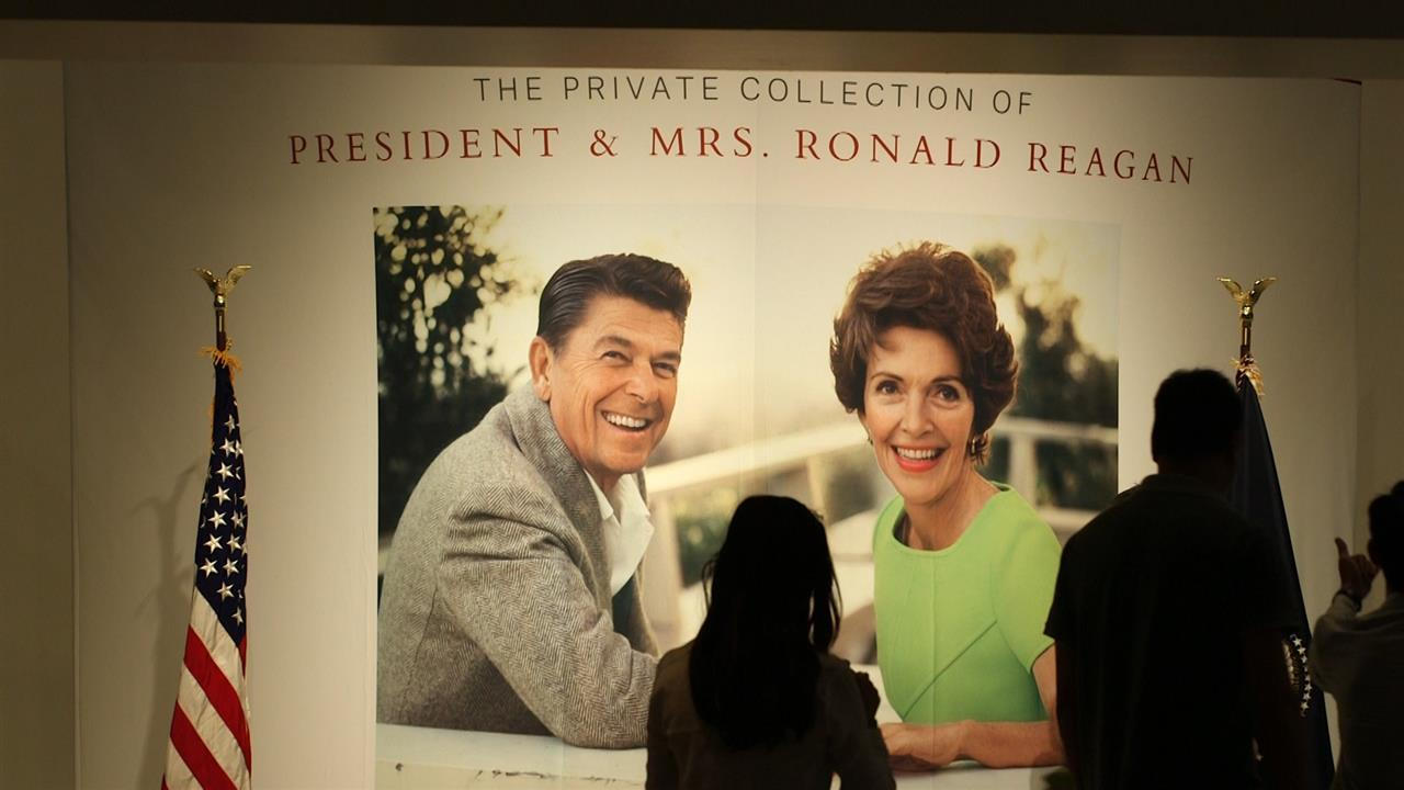 President Ronald Reagan and First Lady Nancy Reagan's personal collection goes to auction at Christie's in New York City on Wednesday, Sept. 21. WSJ's Tanya Rivero gets a preview. Photo/Video: Carly Marsh/The Wall Street Journal