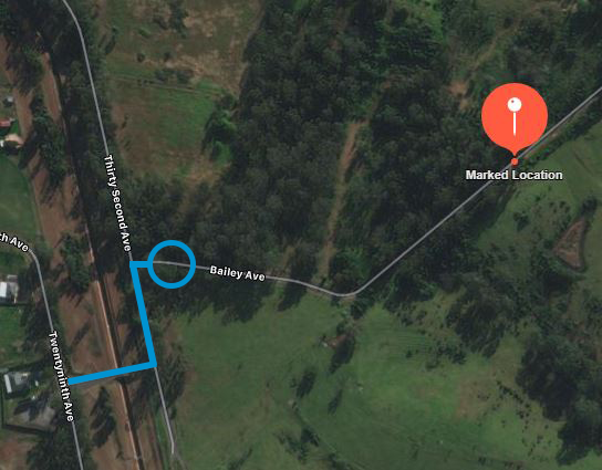 The RSPCA's map showing where the pony was abandoned. Source: RSPCA NSW