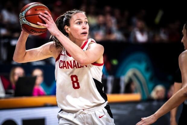 Veteran Kim Gaucher was among 12 players named to Canada's women's basketball roster for the Tokyo Olympics on Tuesday. (Vianney Thibaut/Canada Basketball - image credit)