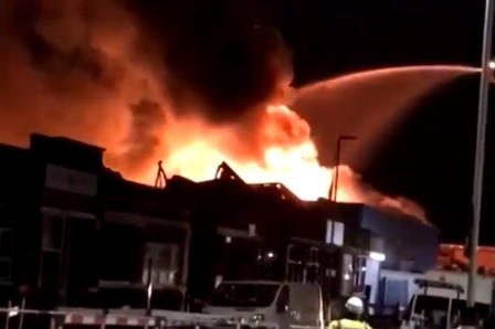Tottenham fire: Dramatic warehouse blaze enters day two as flames spread to second building