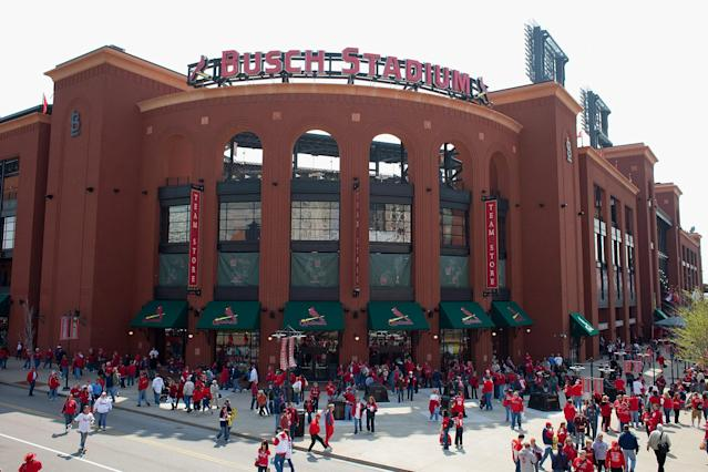 Two people were shot during a private event at Ballpark Village in St. Louis on Sunday night. (Getty Images)