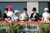 <p>Prince Charles and Camilla waited for the St. James's Palaces Stakes to begin with the Earl of Wessex. <br></p>