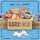 """<p><strong>Bark Box</strong></p><p>amazon.com</p><p><strong>$35.00</strong></p><p><a href=""""https://www.amazon.com/dp/B07R5VH7XT?tag=syn-yahoo-20&ascsubtag=%5Bartid%7C10063.g.34846057%5Bsrc%7Cyahoo-us"""" rel=""""nofollow noopener"""" target=""""_blank"""" data-ylk=""""slk:Shop Now"""" class=""""link rapid-noclick-resp"""">Shop Now</a></p><p>If you've already heard of a dog subscription box, it's probably this super-popular one. With fun themed boxes, a satisfaction guarantee, and seriously adorable toys inside, this one is the OG for a reason. </p><p><strong>$35 per month</strong></p>"""