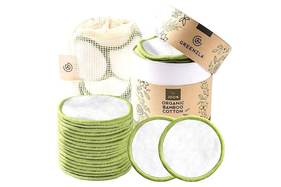 """<p>""""I stopped buying single-use cotton rounds and got <a href=""""https://www.amazon.com/dp/B07G8V47Z3?ref=nb_sb_ss_w_as-ypp-5plus_ypp_v1_k0_1_16&crid=2KBQRRQCUYJR9&sprefix=resuable+cotton+"""" rel=""""nofollow noopener"""" target=""""_blank"""" data-ylk=""""slk:100 percent organic reusable ones on Amazon"""" class=""""link rapid-noclick-resp"""">100 percent organic reusable ones on Amazon</a>. I've also cut down on buying paper towels and have used kitchen towels to clean up my messes. They're small changes but they add up once you realize how much you're buying and only using once before throwing everything away.""""</p> <p>— <b>Diane J. Cho, Features Editor</b></p>"""