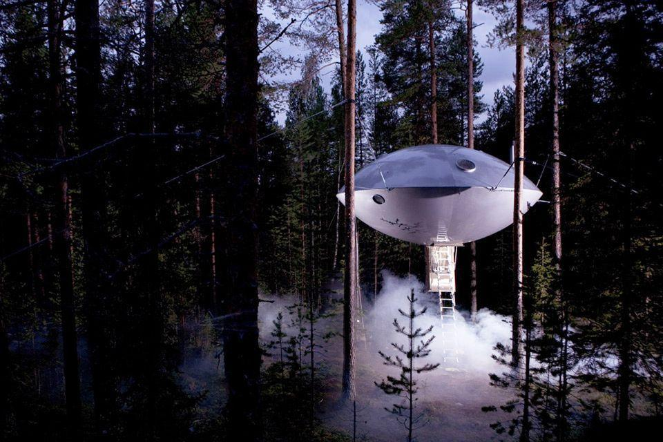 """<p>Sci-fi geeks will love staying in this towering hotel room in Sweden, even if they won't be sharing the space with extra-terrestrial guests.</p><p><a class=""""link rapid-noclick-resp"""" href=""""https://go.redirectingat.com?id=74968X1596630&url=https%3A%2F%2Fwww.tripadvisor.com%2FHotel_Review-g6200614-d1872348-Reviews-Treehotel-Harads_Norrbotten_County.html%23%2Fmedia%2F1872348%2F267330000%3Ap%2F%3Falbumid%3D101%26type%3D0%26category%3D101&sref=https%3A%2F%2Fwww.housebeautiful.com%2Fdesign-inspiration%2Fhouse-tours%2Fg3301%2Famazing-tree-house-homes%2F"""" rel=""""nofollow noopener"""" target=""""_blank"""" data-ylk=""""slk:BOOK NOW"""">BOOK NOW</a> <strong><em>The UFO</em></strong></p>"""