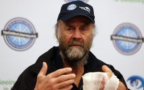 Sir Ranulph pictured in 2013, after he was forced to pull out of an expedition across Antarctica due to frostbite - Credit: PA